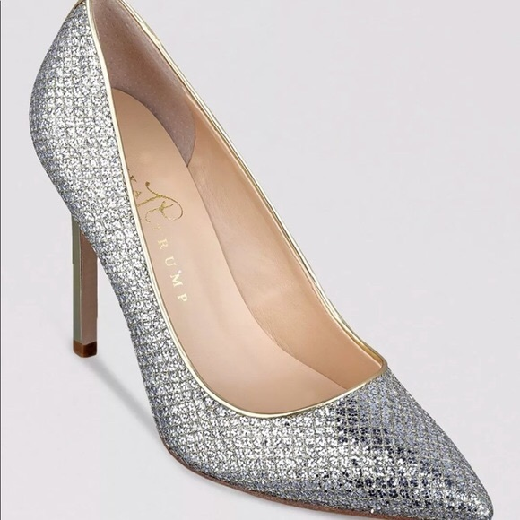 70cefd10e51 Ivanka Trump Shoes - Ivanka Trump Carra 2 Gold Silver Shimmer Heels